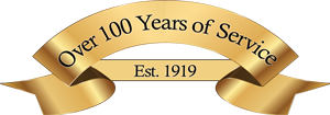 Over 100 years of service graphic