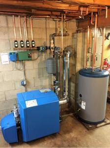 New Buderus Boiler System with Indirect Water Heater